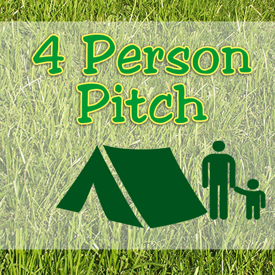 4 Person Pitch - Family Field - without ELEC hook-up