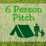 6 Person Pitch - Family Field - without ELEC hook-up