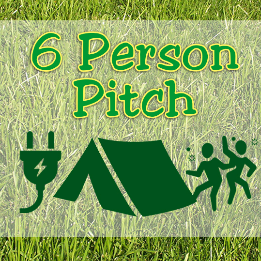 6 Person Pitch - On The Go Field - with ELEC hook-up